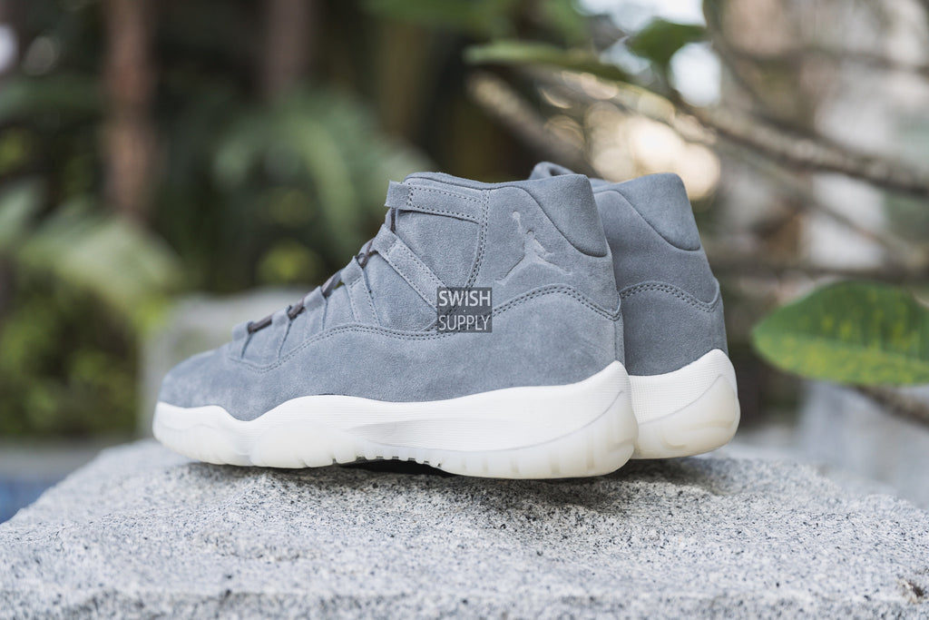 "Air Jordan 11 PRM ""Grey Suede"""