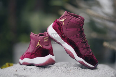 "Air Jordan 11 ""Red Velvet"" RL GG BG"