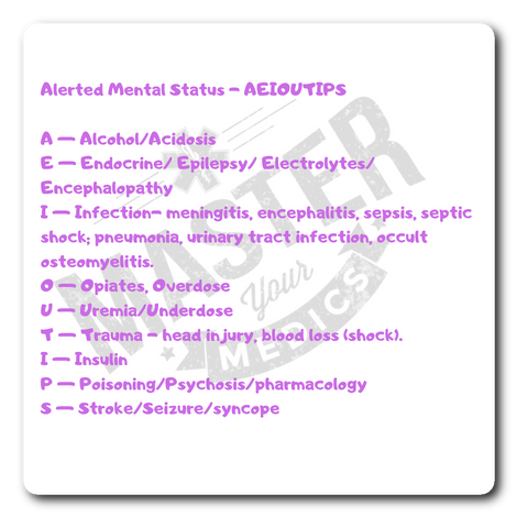 Altered Mental Status Sticker