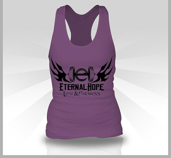Gym Logo Women's Racerback - Purple Berry