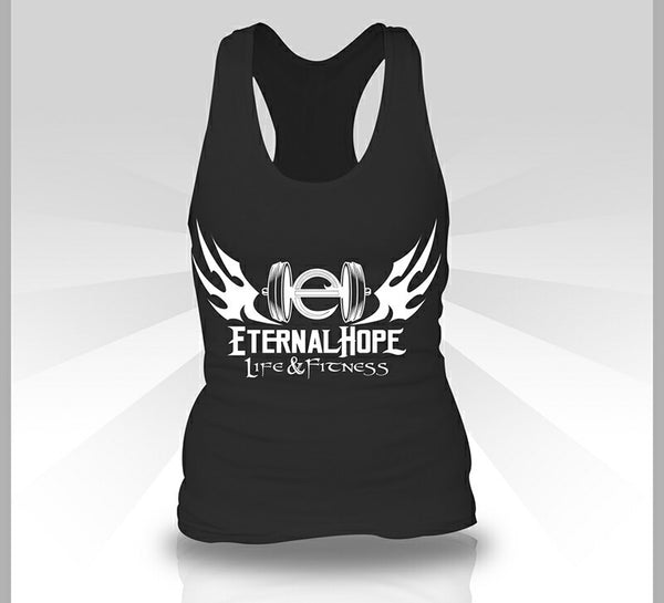Gym Logo Women's Racerback - Black