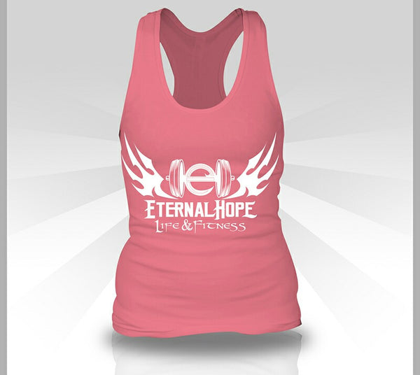 Gym Logo Women's Racerback - Hot Pink