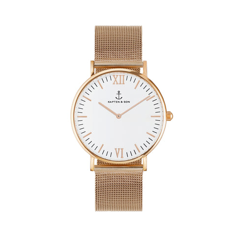 "KAPTEN & SON Campus ""MESH"" Gold-White 36mm - Sneakerhelden"