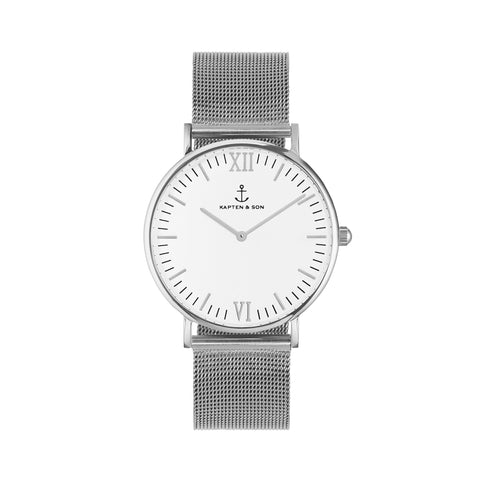 "KAPTEN & SON Campus ""MESH"" Silver-White - Sneakerhelden"