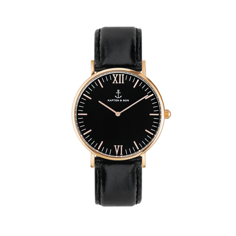 "KAPTEN & SON Gold ""All Black"" 36 mm - Sneakerhelden"