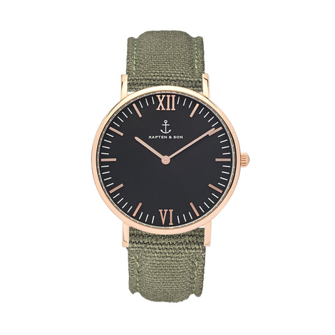 "KAPTEN & SON Black ""OLIVE"" Canvas - Sneakerhelden"
