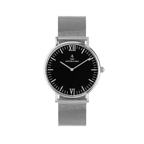 "KAPTEN & SON Campus ""MESH"" Silver-Black - Sneakerhelden"