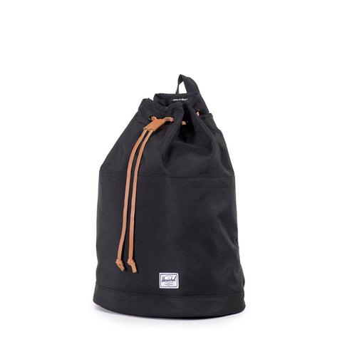 HERSCHEL BackPack Hanson Black/Tan Pebbled Leather - Sneakerhelden