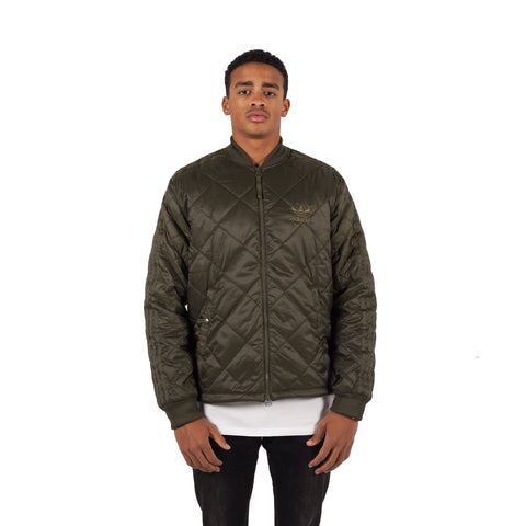 ADIDAS Originals Quilted Superstar Jacke Oliv - Sneakerhelden