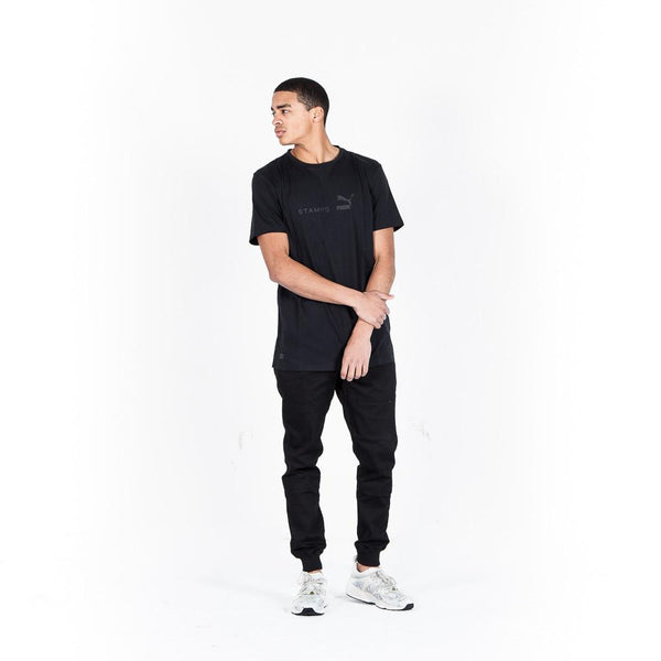 PUMA X STAMPD Basic Print T / black - Sneakerhelden