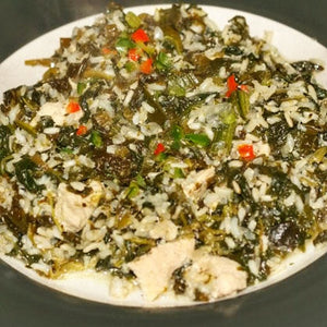 Zamarud Pilau (Rice with Spinach)
