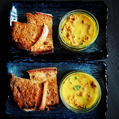 Curried Potted Crab with Toast