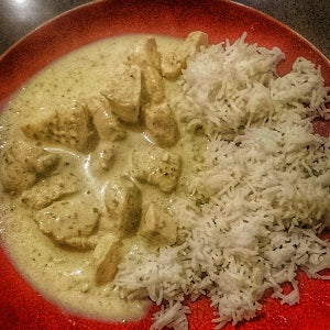 Chicken in Green Masala (with Sambal Hijau)