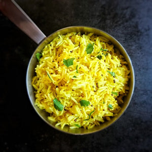 Popcorn Rice with Turmeric & Ginger Infusion