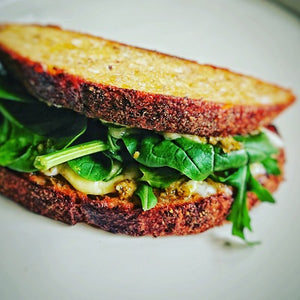 Toasted Sourdough with Caerphilly & Sambal Hijau