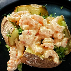 Jacket Potato with Thai Prawn Cocktail Filling