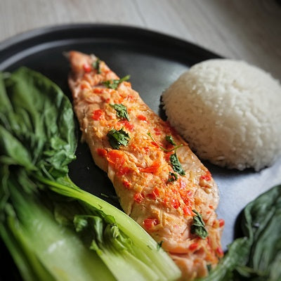 Thai Style Steamed Trout with Signature Sambal