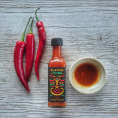 Shadow Tribe Hot chilli sauce in dipping bowl