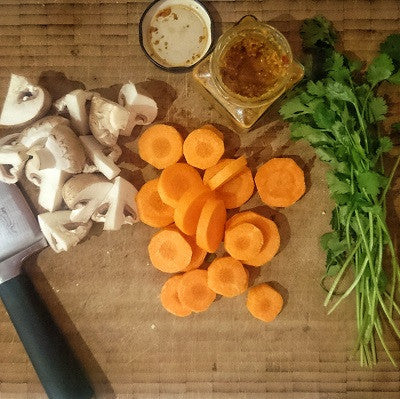 veg on chopping board