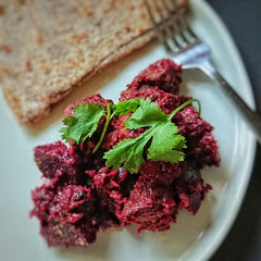 Lamb and beetroot curry