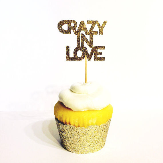 Crazy In Love Cupcake Toppers