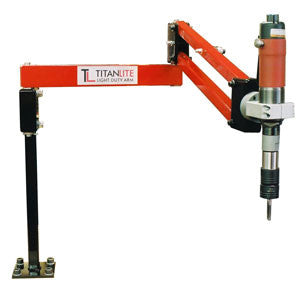 Titanlite linear tool support arm. Max torque=35ftlb, load capacity=10lbs. Min arm reach=12in , max arm reach=38in . (PNTL-38)