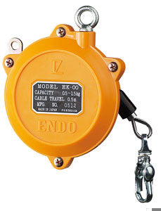 Endo light duty spring balancer. Load capacity=.5 - 1.5kg(1.1-3.3lb). .5meter cable travel. (PN EK-00)