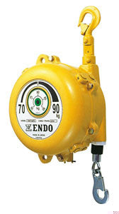 Endo EWF-90 spring balancer, capacity=70kg - 90kg(175lb - 225lb), cable travel=1.5 meters. Aircraft grade cable, spring hooks on both ends. (PN EWF-90)
