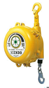 Endo EWF-70 spring balancer, capacity=60kg - 70kg(150lb - 175lb), cable travel=1.5 meters. Aircraft grade cable, spring hooks on both ends. (PN EWF-70)
