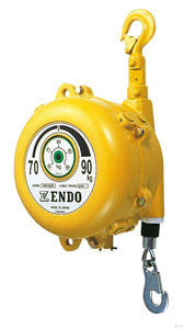 Endo EWF-120 spring balancer, capacity=100kg - 120kg(250lb - 300lb), cable travel=2 meters. Aircraft grade cable, spring hooks on both ends. (PN EWF-120)