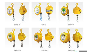 Endo EW-5 spring balancer, capacity=2.5kg - 5kg(6.25lb-12.5lb), cable travel=1.3 meters. Aircraft grade cable, spring hooks on both ends. (PN EW-5)
