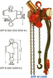 ATP 91200-2MC Air Hoist (PN ATP 91200-2MC)