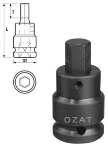 Z-08M03V OZAT Hex Driver Sockets 1/2in Drive 3mm (PN Z-08M03V)