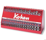 Koken USA 3/8in Sq. Dr. 126 Piece Set: 6 Point Sockets (SAE) (P/N S3240A-00)