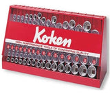 Koken USA 1/2in Sq. Dr. 117 Piece Set: 12 Point Sockets (P/N S4240M-05)