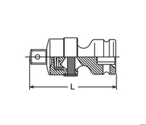 Koken USA 3/8in Sq. Dr. Universal (P/N 13771)