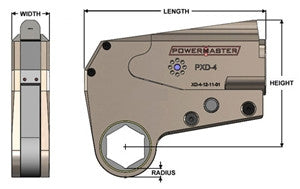Powermaster Low Clearance Hydraulic Torque Wrench (PXD-16)