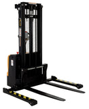 Vestil Double Mast Stacker with Powered Drive and Powered Lift PN S-101-AA-DM