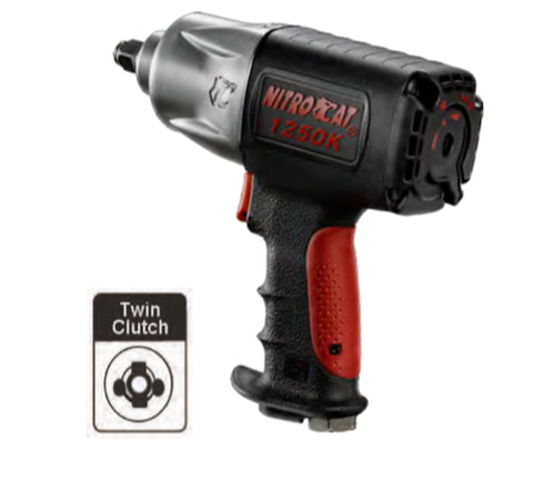"NitroCat 1/2"" KevlarTM Twin Clutch Impact Wrench PN 1250-K"