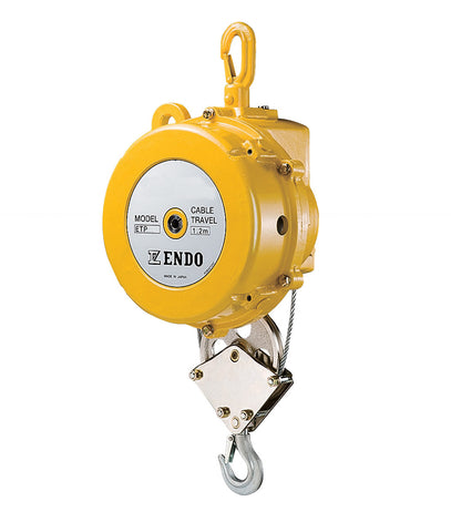 Endo ETP-16 heavy load spring balancer, capacity=170g - 200kg(425lb - 500lb), cable travel=2 meters. Aircraft grade cable, spring hooks on both ends. (PN ETP-16)