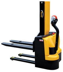 Vestil Narrow Mast Stacker with Powered Drive and Powered Lift PN SNM3-43-FF-27
