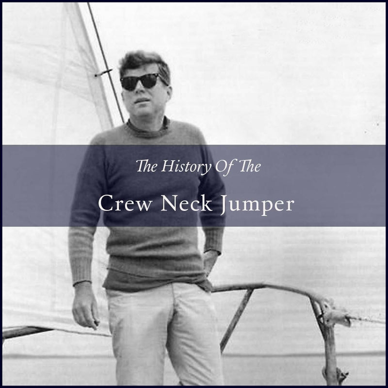 The history of the mens crew neck jumper