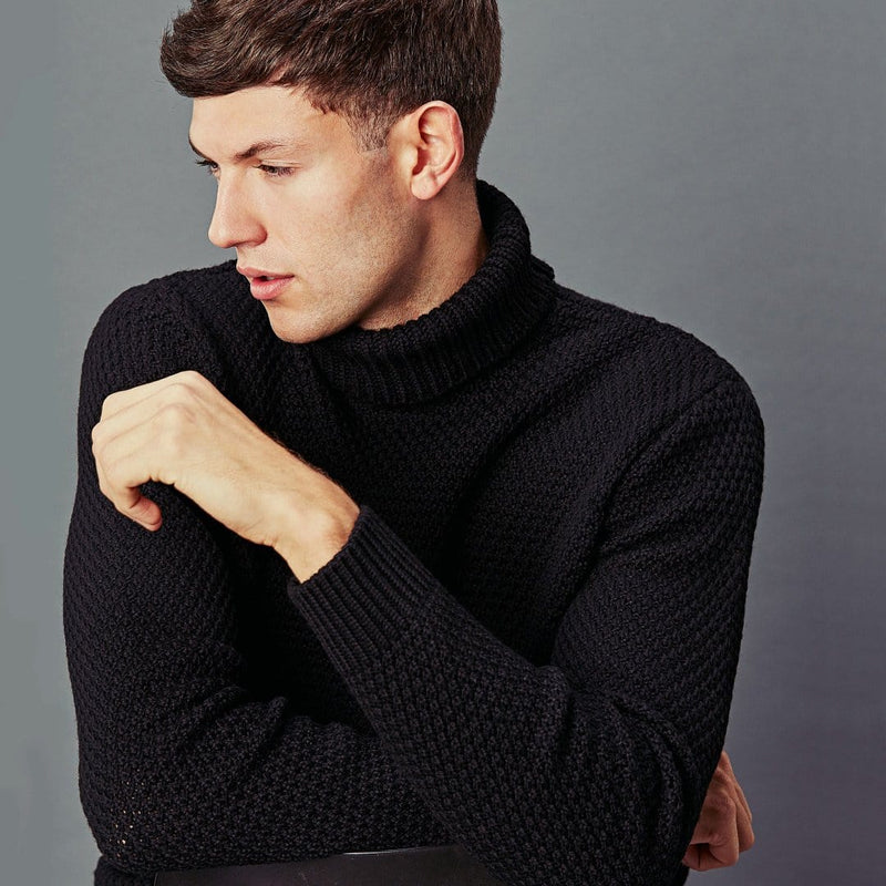 mens roll neck wool jumper