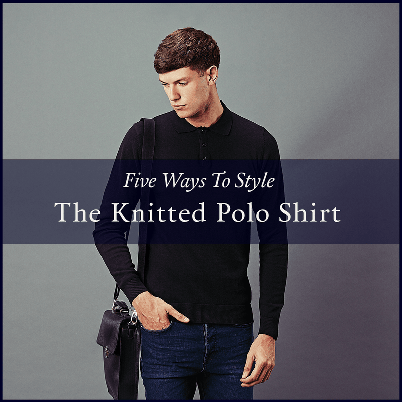 how to style a knitted polo shirt