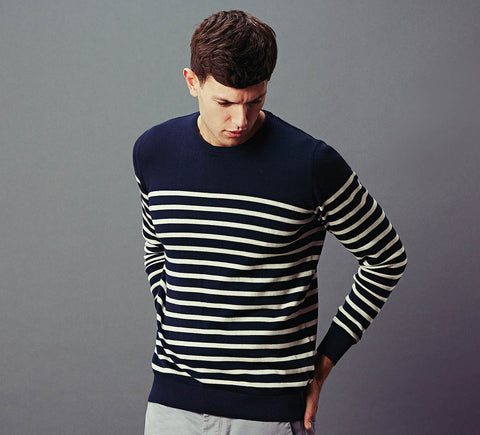 mens 100% cotton breton jumper