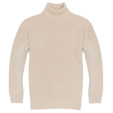 mens cotton submariner roll neck jumper