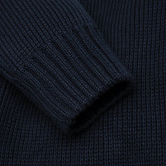 navy cotton jumper sleeve mens