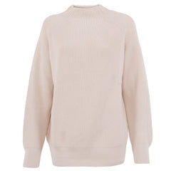 women's 100% cotton long sleeve raglan ecru jumper