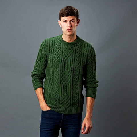 Mens Aran wool jumper