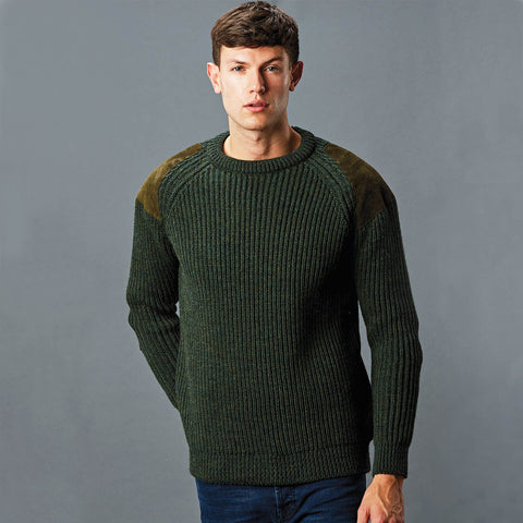 mens british wool shooting jumper